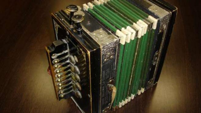Acordeón de la muestra 'Instrumentos musicales tradicionales'
