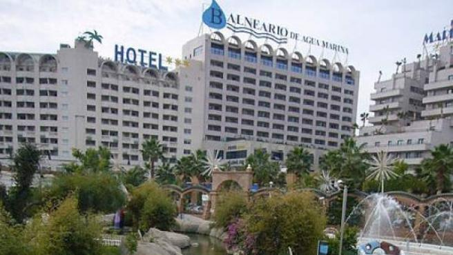 Imagen de un hotel y el balneario de Marina d'Or, en Oropesa de Mar (Castellón).