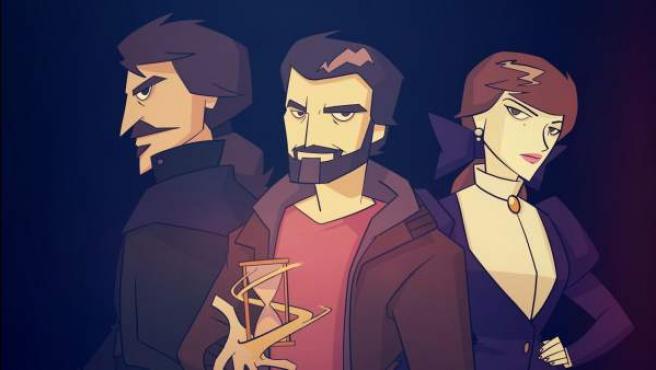 Julián Martínez, Amelia Folch y Alonso de Entrerríos, en una ilustración creada por uno de los fans de 'El Ministerio del Tiempo'.