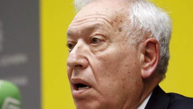 El ministro de Asuntos Exteriores, José Manuel García-Margallo, durante una rueda de prensa.