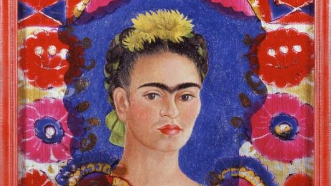 <p>Autorretrato de Frida Kahlo que puede verse en el Centre Pompidou de Málaga.</p>