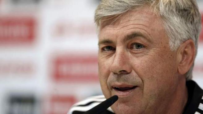 El entrenador del Real Madrid, el italiano Carlo Ancelotti.