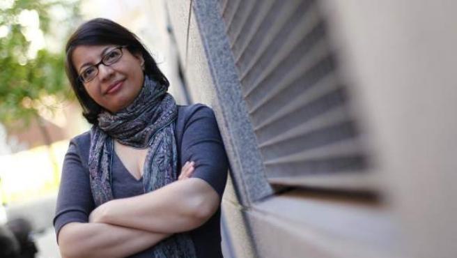 La activista iraní por los derechos de las mujeres, Shadi Sadr, en su visita a Madrid.