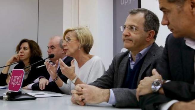 La líder de UPyD, Rosa Díez, presenta las candidaturas para las municipales de 2015.
