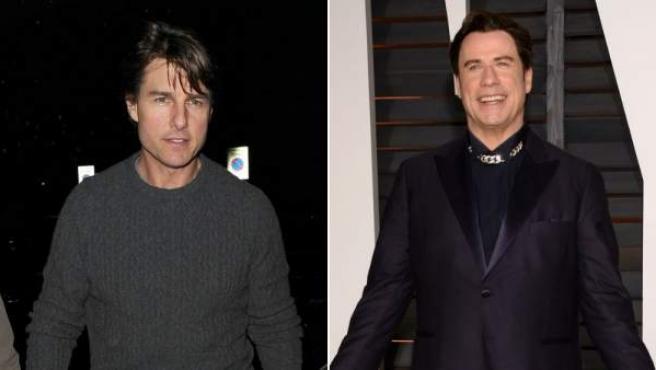 Tom Cruise y John Travolta, en dos imágenes recientes.