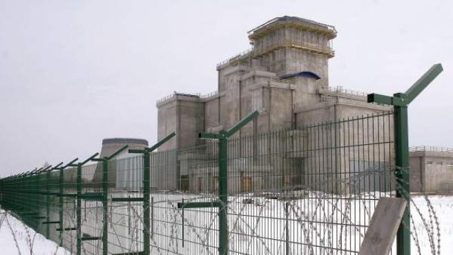 Imagen del almacén de fuel de la central nuclear de Chernóbil, en Ucrania, tomada en marzo de 2006.