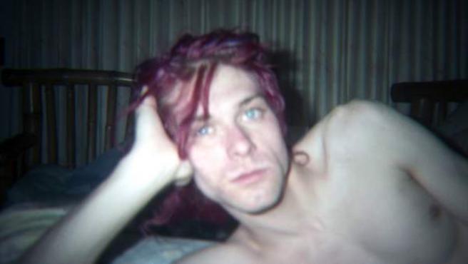 Kurt Cobain, en la foto promocional del documental 'Montage of heck'.