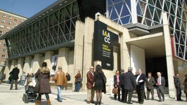 Entrada al museo Pablo Serrano de Zaragoza.