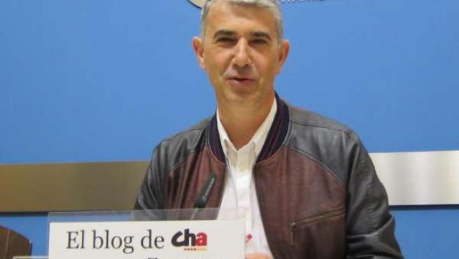 El portavoz de CHA en el Ayuntamiento, Juan Martín