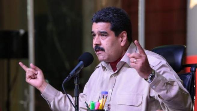 El mandatario venezolano, Nicolás Maduro, en un acto gubernamental en Caracas (Venezuela).