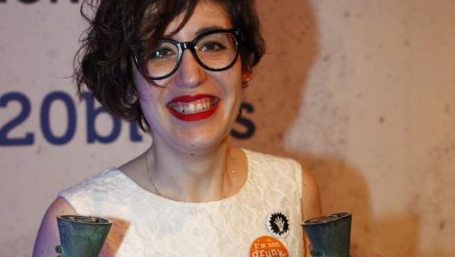 Paula Bornachea, gran ganadora de la IX edición de los Premios 20Blogs por su bitácora 'Una de cada Mil'.