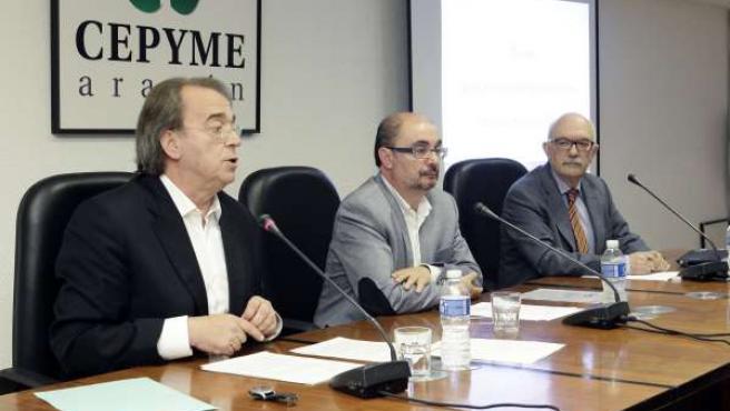 Pérez Anadón y Lambán, este viernes en Cepyme