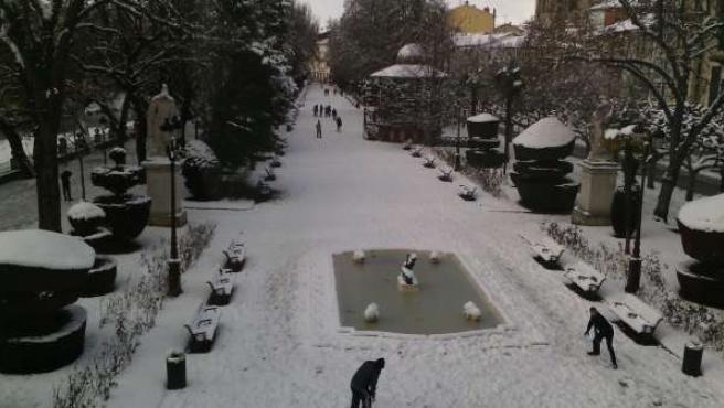 Nieve en Burgos 2015