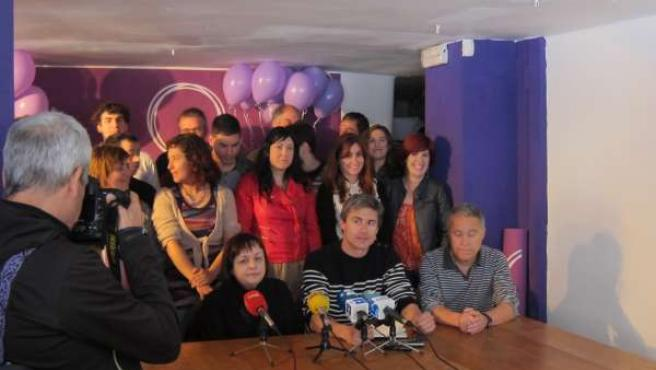 Rueda de prensa de Podemos Euskadi.