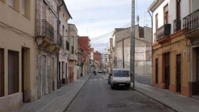 Imagen de una calle del barrio El Cabanyal