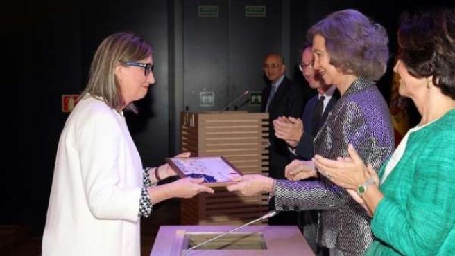 Trinidad Nogales recoge el premio Europa Nostra de la Reina Doña Sofía