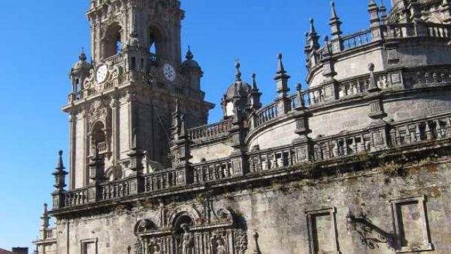 Catedral de Santiago de Compostela, desde la Praza da Quintana