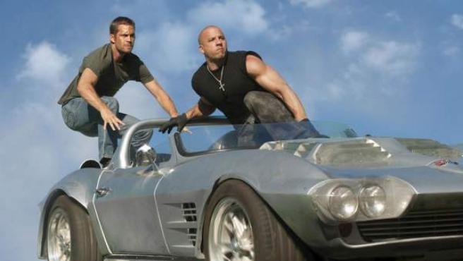 Vin Diesel y Paul Walker en una escena de 'Fast & Furious 7'