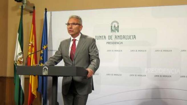 El portavoz del Gobierno andaluz en funciones, Miguel Ángel Vázquez