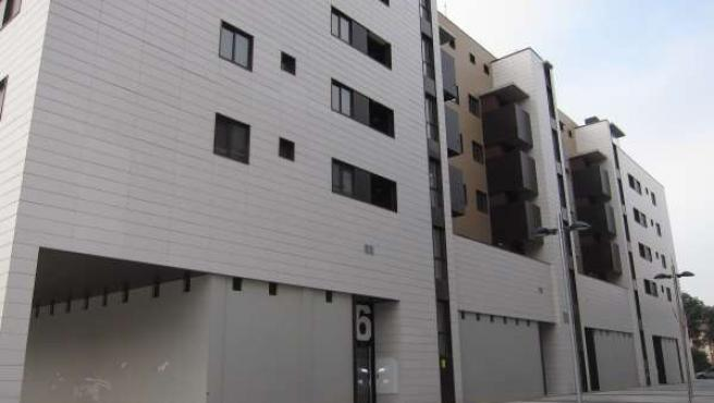 Bloque de pisos en el zaragozano barrio de Torrero, vivienda
