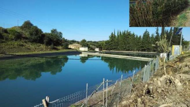 Depósito de agua de Almunia de San Juan.
