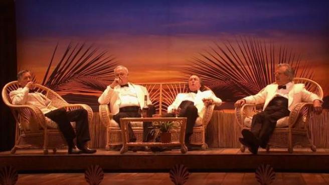 Imagen del espectáculo de despedida de los Monty Python.