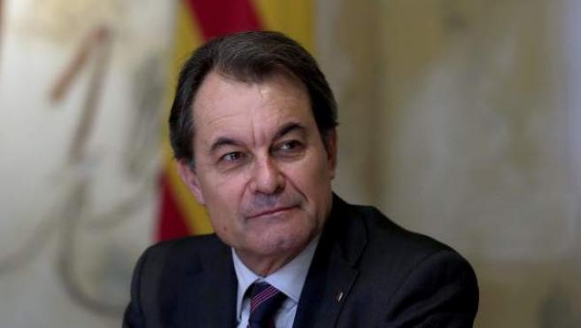 El presidente de la Generalitat, Artur Mas, durante una reunión del Ejecutivo catalán.