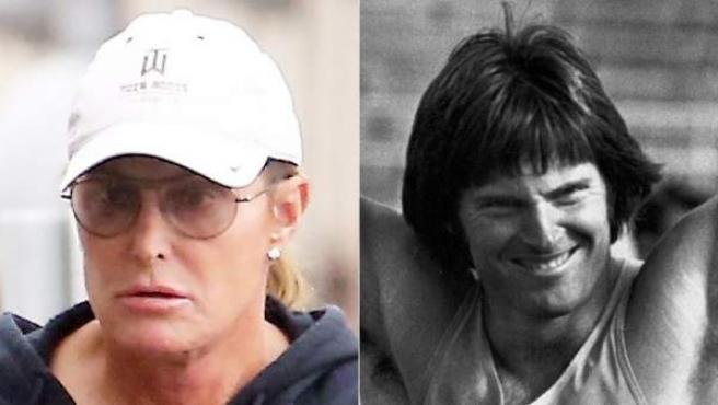 Bruce Jenner, en una imagen de 2014 (izda) y en otra de 1976, cuando competía.