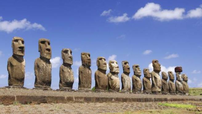 Imagen de archivo de los 'Rapa Nui' de la Isla de Pascua.