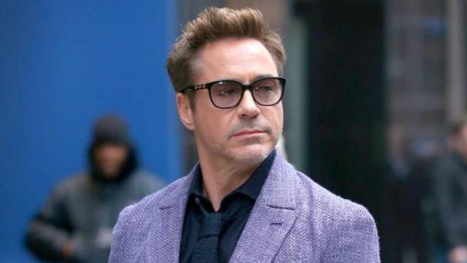 El actor estadounidense Robert Downey Jr, en un acto promocional en Nueva York.
