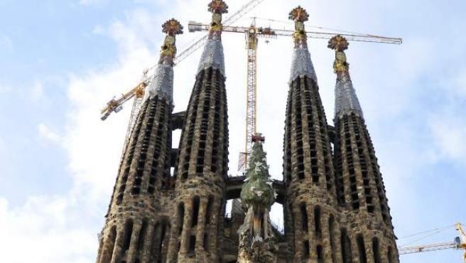 Fachada del Nacimiento de la basílica de la Sagrada Familia de Barcelona.