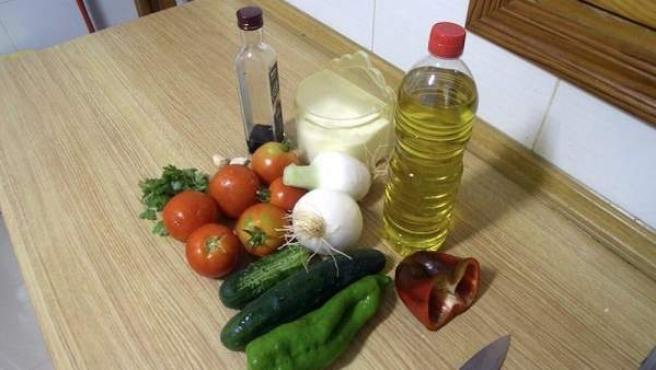 Verduras y aceite de oliva, bases de la dieta mediterránea.