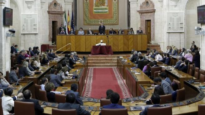 Una imagen del Parlamento Andaluz durante la anterior legislatura.