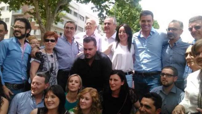 El secretario general del PSOE, Pedro Sánchez, en Bullas