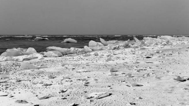 Vista de hielo en el Ártico