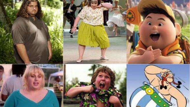Hurley ('Perdidos'), Tracy ('Hairspray'), Russell ('Up'), Amy la gorda ('Dando la nota'), Gordi ('Los Goonies') y Obélix.