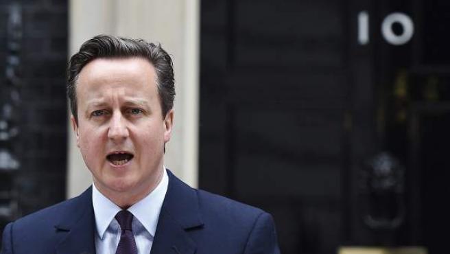 David Cameron ofrece un discurso a la nación tras conocer la mayoría absoluta conservadora.