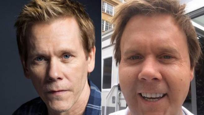 La imagen de Kevin Bacon subida a Instagram junto a una del actor este mes de enero.