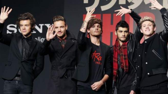 Louis Tomlinson y Zayn Malik, durante un acto promocional de One Direction.