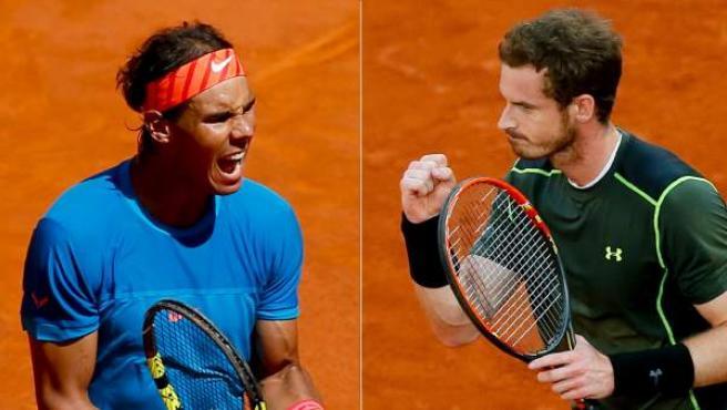 Montaje fotográfico de Rafa Nadal y Andy Murray.