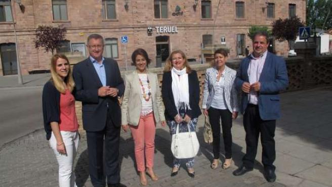 Manuel Blasco, con otros de los candidatos del PP