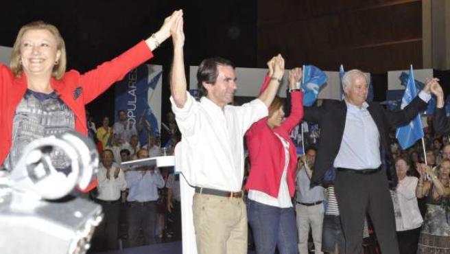 Aznar en el mitin de Zaragoza