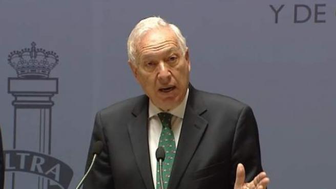 El ministro de Asuntos Exteriores, José Manuel García-Margallo, en rueda de prensa.