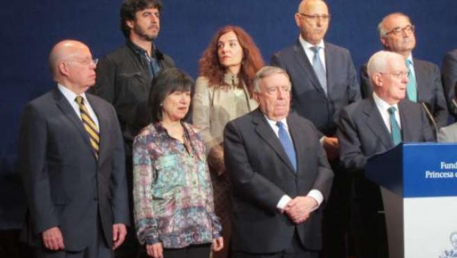 Parte del jurado Princesa de Asturias de Comunicación y Humanidades.