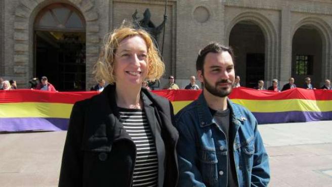Patricia Luquin y Jorge Sanz, candidatos de IU Aragón