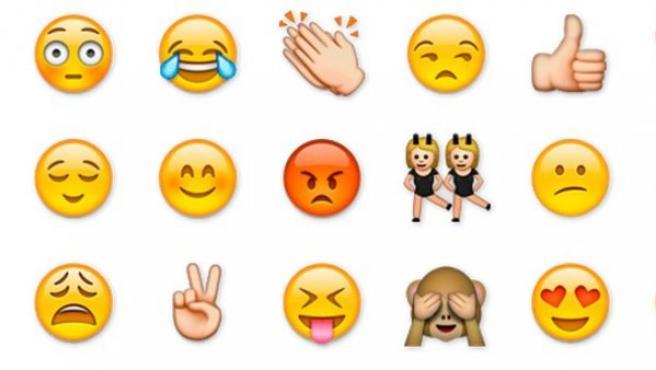 Algunos de los emojis más utilizados.