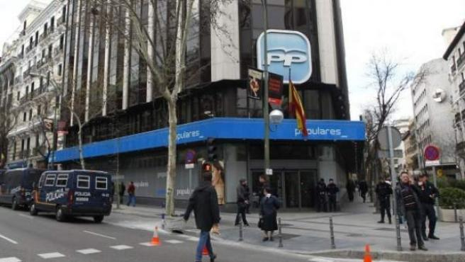 Sede central del PP en la calle de Génova en Madrid, en una imagen de archivo.