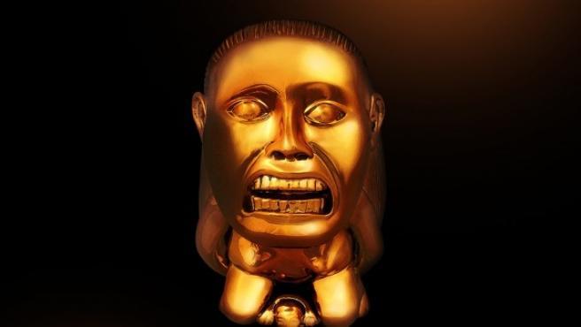 Ídolo de fertilidad de la tribu Chachapoyal que aparece en la película 'En busca del arca perdida'