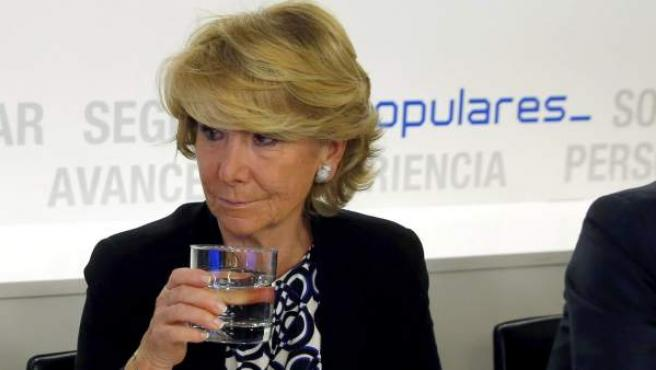 La presidenta del PP de Madrid, Esperanza Aguirre.
