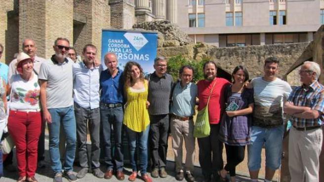 Integrantes y colaboradores de la candidatura de Ganemos Córdoba